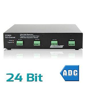 USB-Messsysteme mit analogen Eingängen und 24 Bit Auflösung