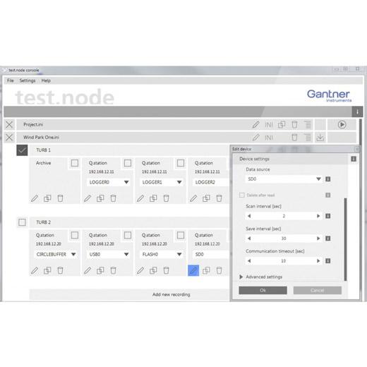 test.node Server Software für einen Controller